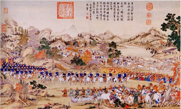 800px-Receiving_the_surrender_of_the_Yili Dzawachi Khan 1755maybe